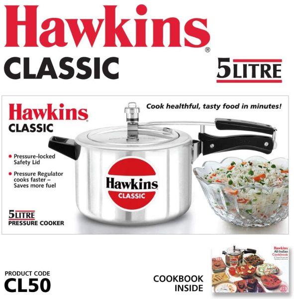 Hawkins Pressure Cooker Classic 5 Litres  - CL50