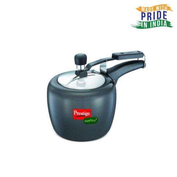 Prestige Apple Duo Plus Hard Anodised Pressure Cooker 3 L