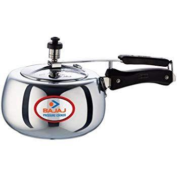 Bajaj Aluminium Pressure Cooker with Duo Inner Lid