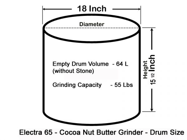 Electra 65 LBS Chocolate Melanger Nut Butter Grinder -  with Speed Controller