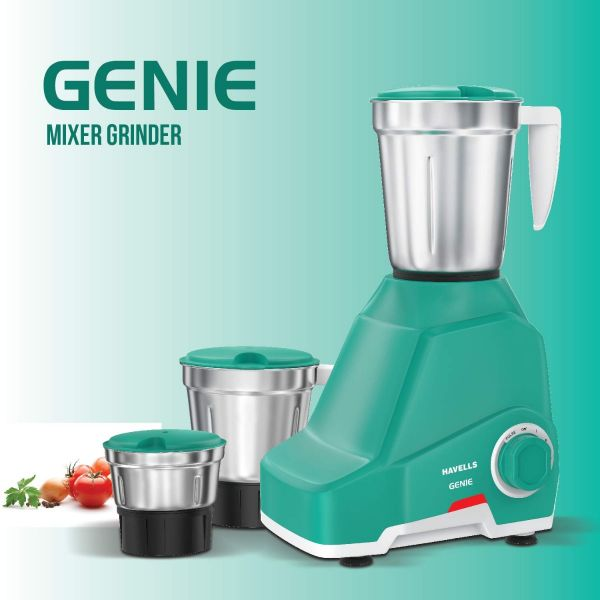 Havells Mixer Grinder Genie 500 Watt - 3 Jars