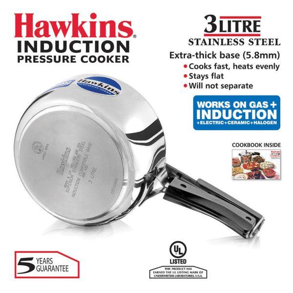 Hawkins Stainless Steel Pressure Cooker 3 L