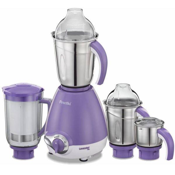 Preethi Mixer Grinder Lavender Pro MG 185 - 4 Jars 600 Watt
