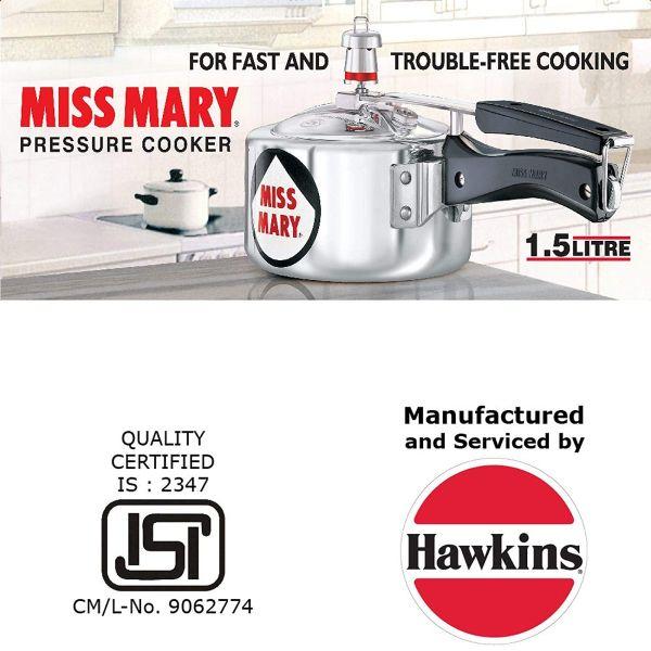 Hawkins Miss Mary Pressure Cooker 1.5 L