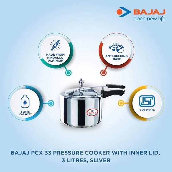 Bajaj Pressure Cooker -3 litres