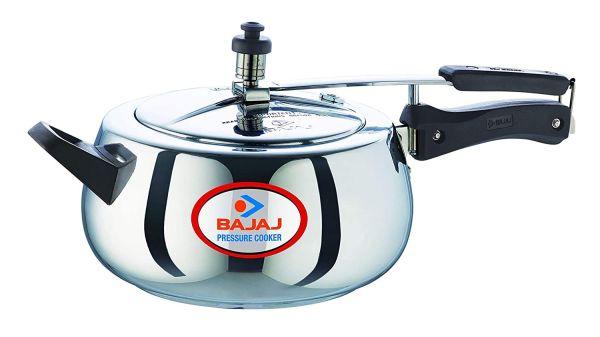 Bajaj Pressure Cooker Aluminium Handi Duo with Inner Lid - PCX 65D - 5L
