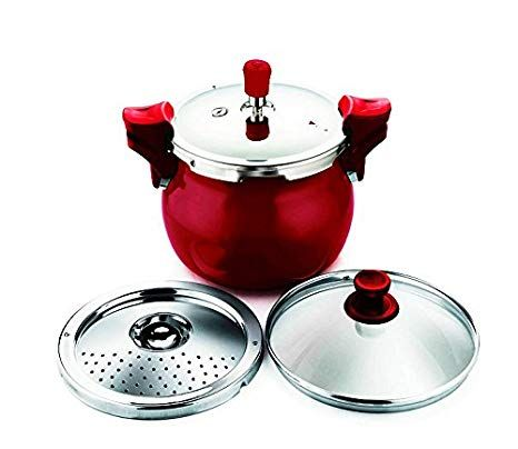 Pigeon Steel Hard Anodized 5 L Pressure cooker