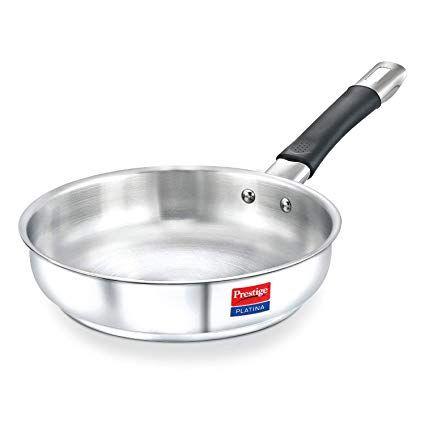Prestige Platina Stainless Steel Fry Pan, 220 mm