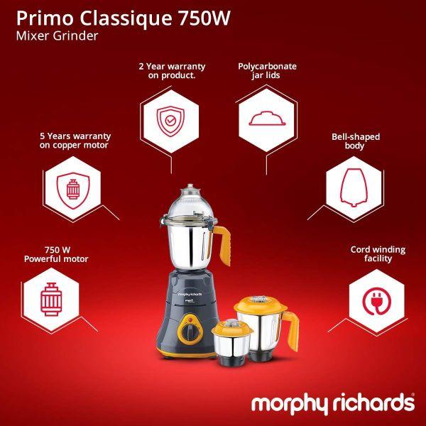 Morphy Richards  Mixer Grinder  Primo Classique