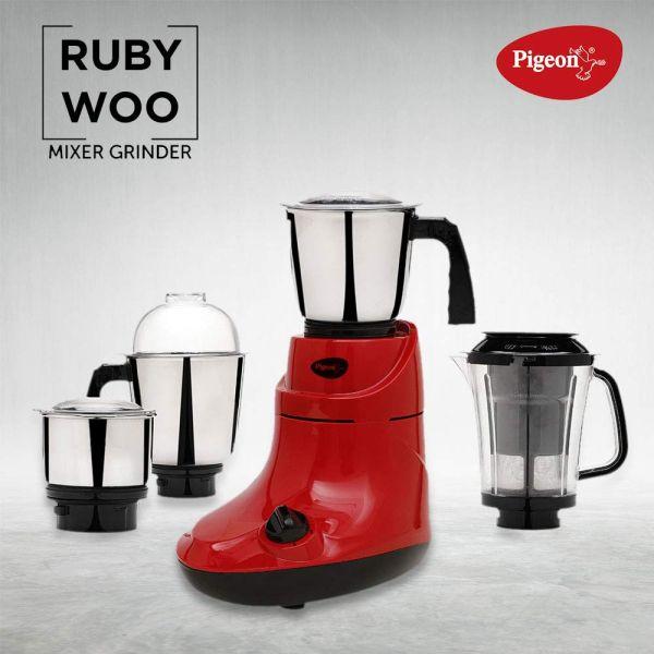 Pigeon Mixer Grinder Stovekraft Ruby Woo - 750W - 3 jars