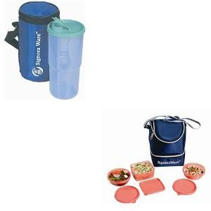 Signoraware Elegant Lunch Box Set with Insulated Bag and Water Bottle