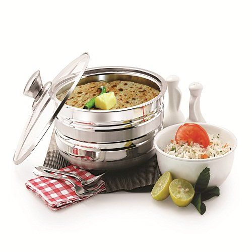 WARMEO Cosmos Stainless Steel Insulated Casserole (1500ml, Silver)