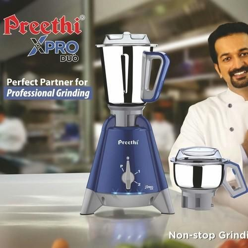 Preethi Mixer Grinder X Pro Duo MG 198 - 2 Jars 1300 Watt