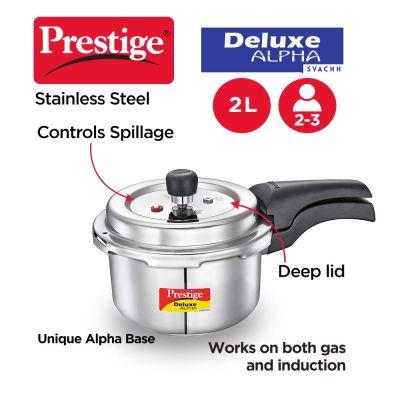 Prestige Stainless Steel Deluxe Alpha - 2 Litres