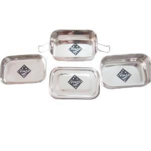 Klassic Vimal rectangular Double Lunch Box