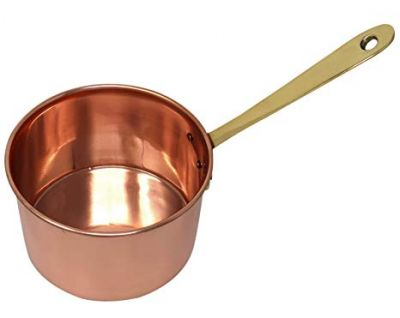 ShalinIndia Traditional Copper Saucepan with Handle